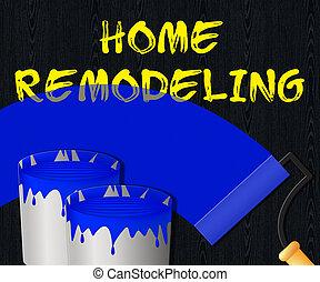 Home Remodeling Displays House Remodeler 3d Illustration -...