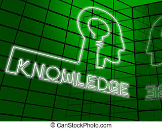 Knowledge Brain Showing Know How 3d Illustration - Knowledge...