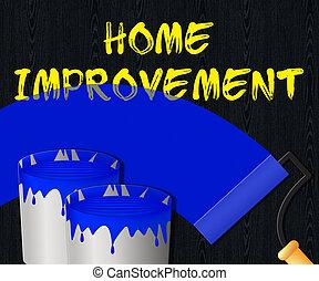 Home Improvement Displays House Renovation 3d Illustration -...