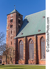 Tower of the Dom cathedral in Verden, Germany