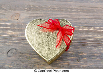 box heart shape as a gift - a box for a gift in the form of...