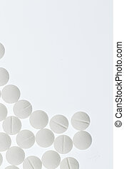 white tablets, symbol photo for medicines, remedies and...