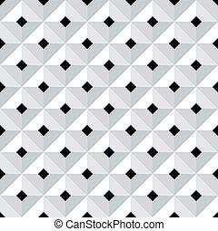 Seamless 3d geometric pattern. - Seamless 3d checked...