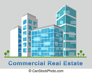 Commercial Real Estate Downtown Represents Properties 3d...