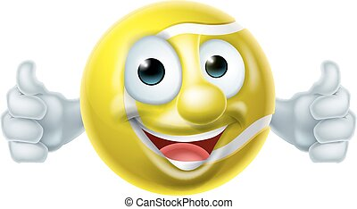 Cartoon Tennis Ball Man - Cartoon tennis ball man mascot...