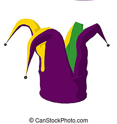 Jester Hat Illustration - Jester hat on a white background