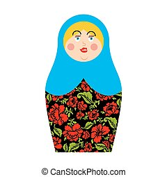 Matryoshka Russian folk doll. National toy. traditional toys...
