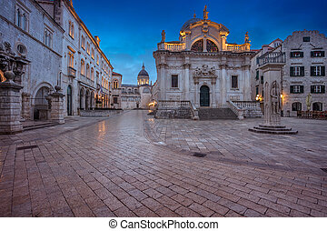 Dubrovnik. - Beautiful romantic streets of old town...