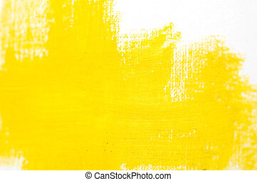 Abstract Yellow Paint Background