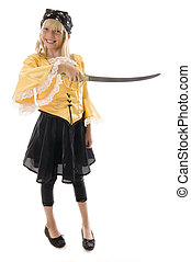 Pirate Girl! - Pirate Girl Ready to Pillage and Plunder!...