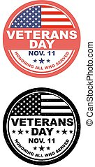 Veterans Day Button