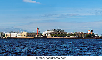 St. Petersburg - View to Vasilevsky Island, Neva river, St....
