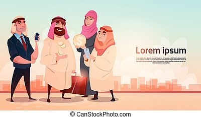 Rich Arab Businessman With Wife Oil Extraction Business...