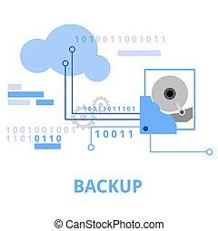 illustration - backup - An illustration showing a backup...