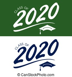 Class of 2020 Congratulations Graduate Typography with Cap...