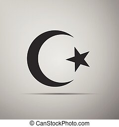 Islam symbol icon on grey background. Adobe illustrator