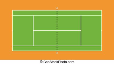 Tennis court illustration - Tennis green grass court...