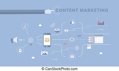 Content Marketing background. Concept business vector for...