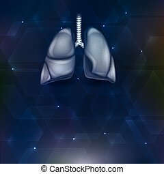 Lungs background - Lungs on an abstract shapes background