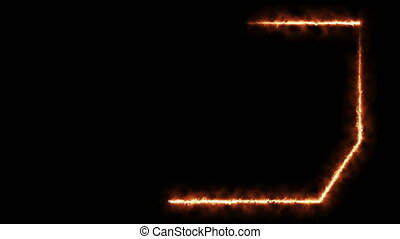 Abstract background with burning frame