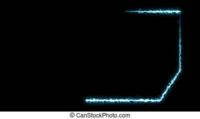 Abstract background with electric frame. Seamless loop