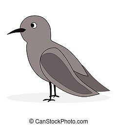 Simple cartoon nightingale. Bird florence nightingale,...