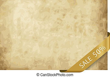 1587 sale 25 persantage - Old paper background with strip