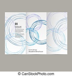 Circle Vector annual report Brochure Flyer template design,...