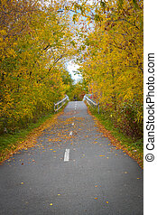 Path in early Fall in Fredericton, New Brunswick - Early...