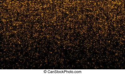 Golden glittering stars. Seamless loop
