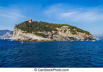 Island of tino near la spezia , italy