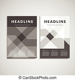Vector brochures template for presentations, covers, books...