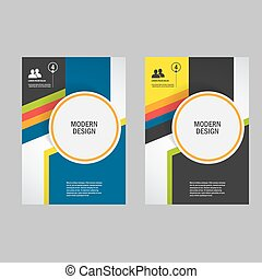 Vectors of stylish corporate office magazine cover page design in ...