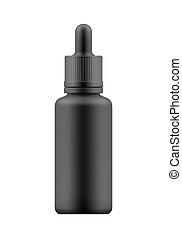 Mock-up of bottle with dropper - Vector realistic blank...