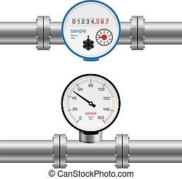 water pipe pressure meter - Pressure gauge water in pipe....