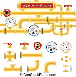 gas pipe set constructor
