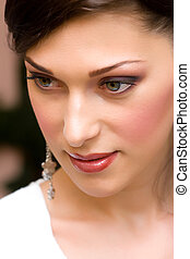 clouseup of young lady with make up