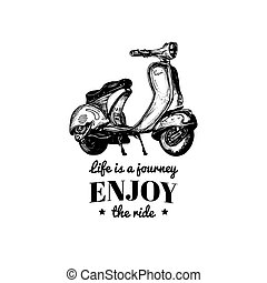 Life is a journey,enjoy the ride vector typographic...