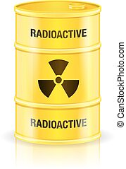 Radioactive Waste - Radioactive waste yellow barrel...