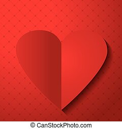 Valentines day red Heart.