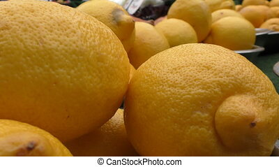 Lemons in the cups on the bench. - London. England. United...
