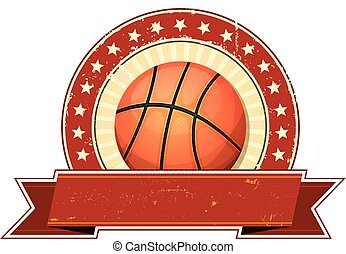 Basketball Grunge And Vintage Banner