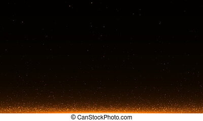 abstract background with Rising embers. Seamless loop