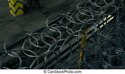 A metal fence connected like a chain armor, close up, 4K