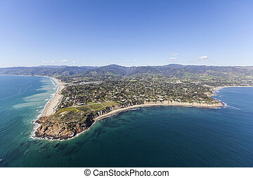 Malibu California Aerial Point Dume - Aerial view of Point...