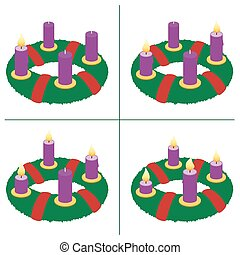 First Sunday Of Advent Second Third Fourth - Advent wreath...