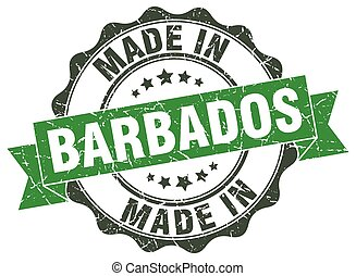 made in Barbados round seal