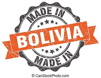 made in Bolivia round seal