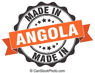 made in Angola round seal