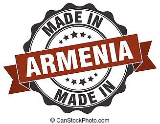 made in Armenia round seal